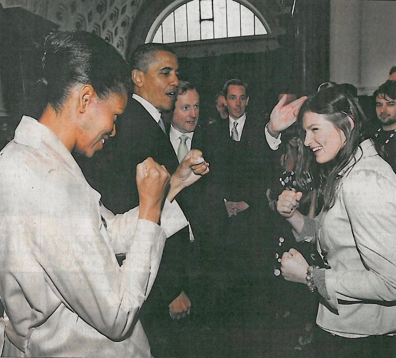 Katie Taylor and Michelle Obama
