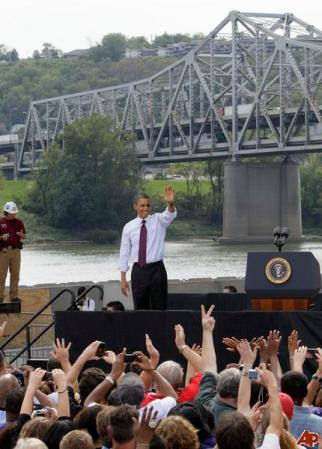 Obama pushing his jobs bill in Cincinatti