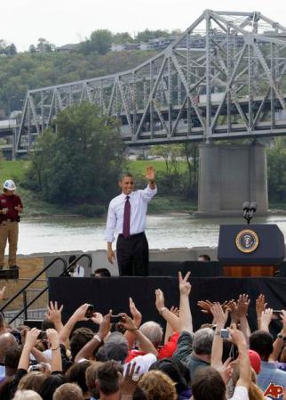 Obama pushing his jobs bill in Cincinatti