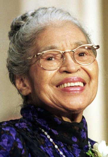 File photo of Rosa Parks attending ceremony where she was presented Congressional Gold Medal on Capitol Hill