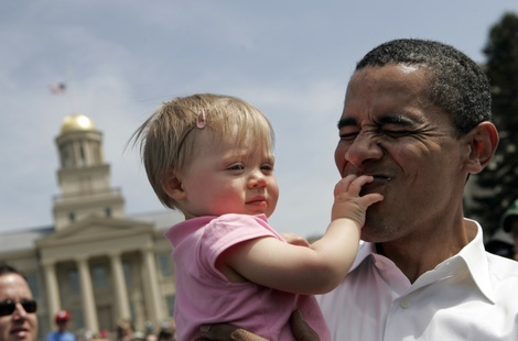 Barack Obama Holds Earth Day Rally In Iowa