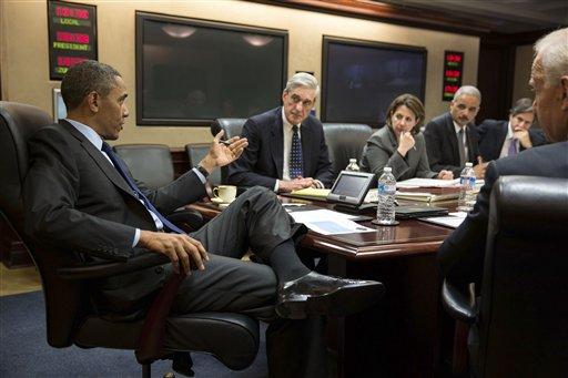 Barack Obama, Robert Mueller, Lisa Monaco, Eric Holder,  Tony Blinken, Joe Biden