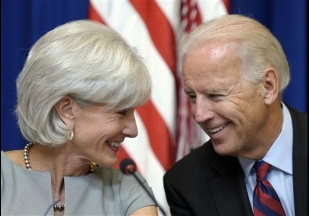 Joe Biden, Kathleen Sebelius