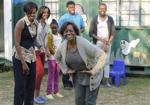 Michelle Obama, Marian Robinson, Malia Obama, Sasha Obama, Avery Robinson, Leslie Robinson