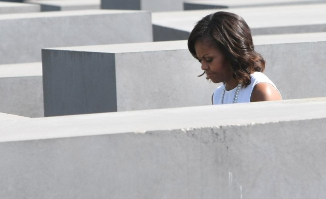 President Obama Visits Berlin - Michelle Obama At The Holocaust Memorial