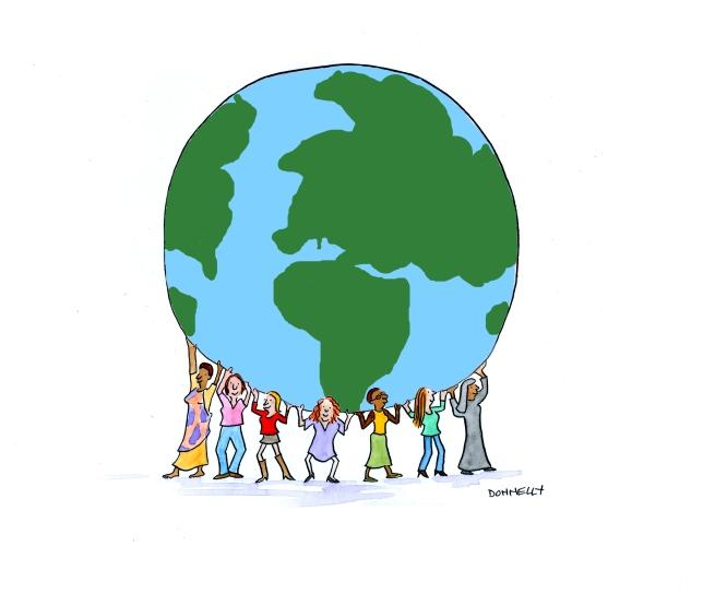 women-holding-globe