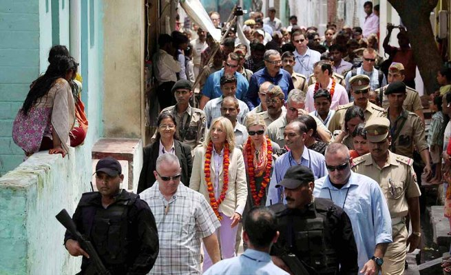 Joe Biden's wife Jill Biden in Agra