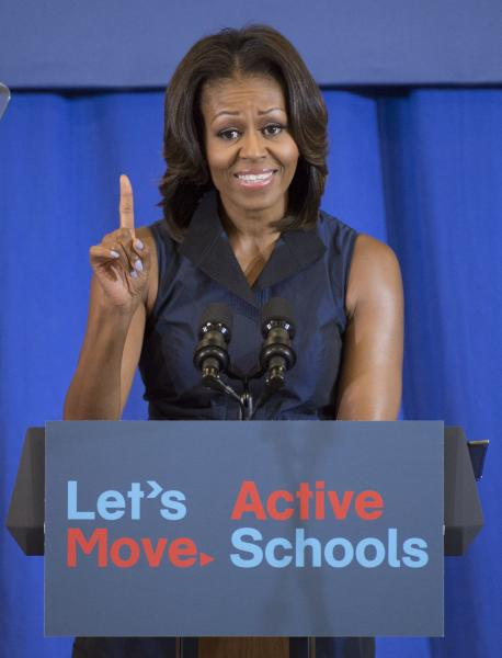 First Lady Michelle Obama delivers remarks at an event celebrating the ...