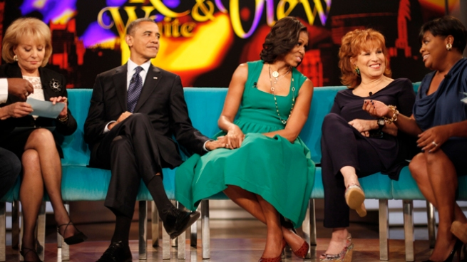 Barack Obama, Michelle Obama, Barbara Walters, Joy Behar, Sherri Shepherd,
