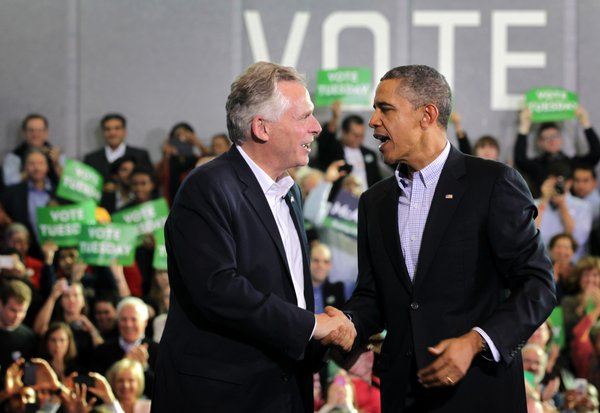 President Obama Joins Terry McAuliffe At A Campaign Rally In Virginia