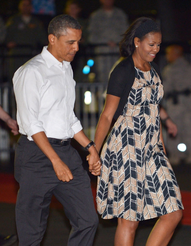 Image result for Former US president Barack Obama and his wife Michelle initially decided to stay in Washington