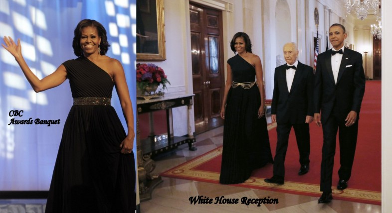 Michelle-Obama-Black-Michael-Kors-Dress