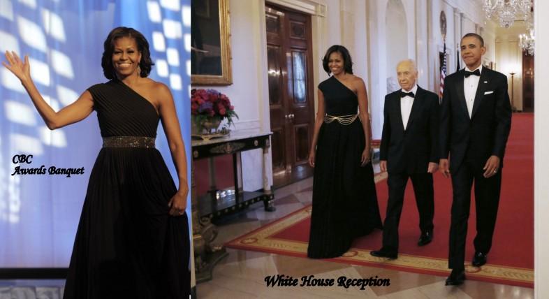 Michelle-Obama-Black-Michael-Kors-Dress