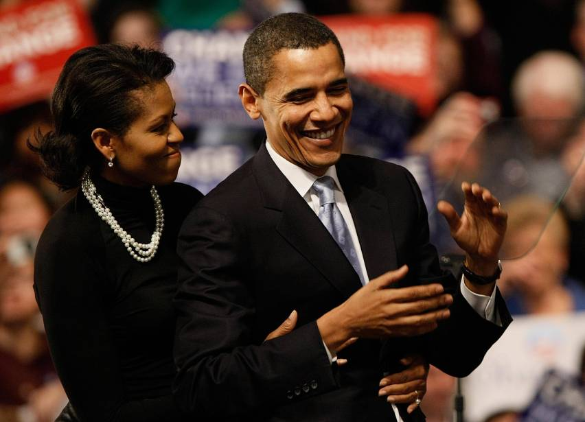Obama And Supporters Rally On Night Of New Hampshire Primary