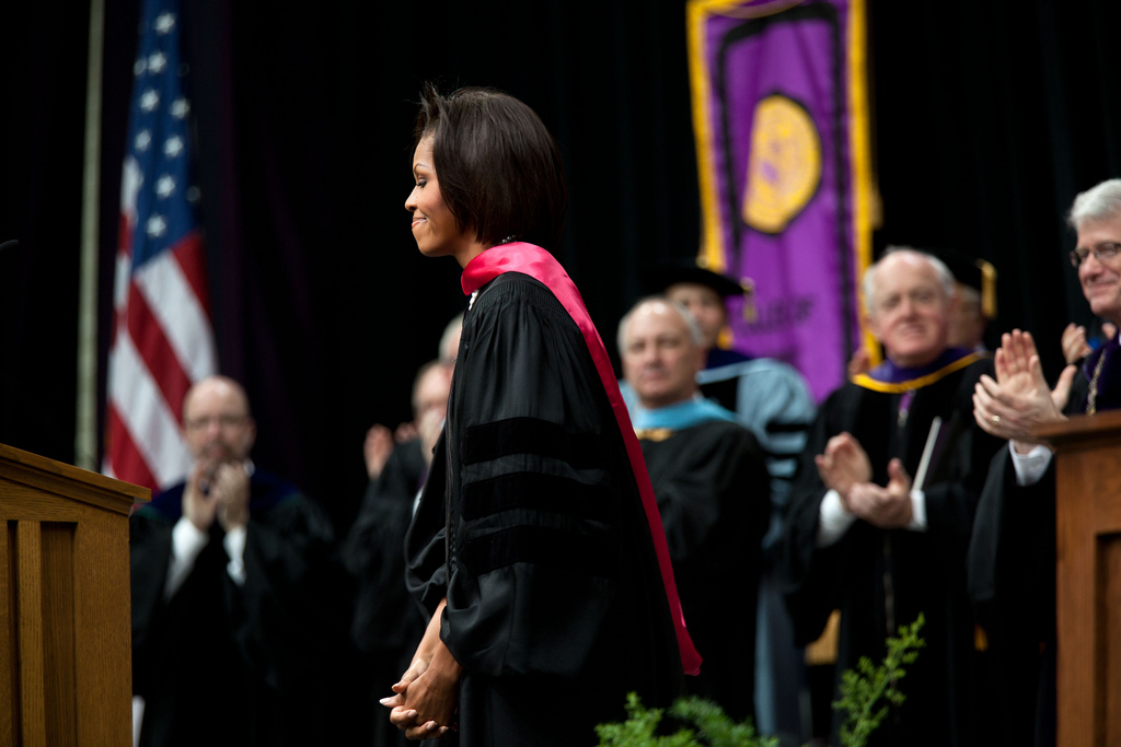 michelles obamas graduation thesis Princeton—educated blacks and the black community by michelle lavaughn robinson a thesis presented to princeton university in partial iment of the.