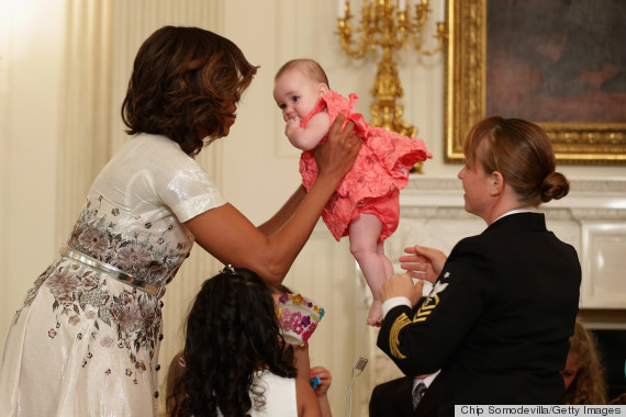 First Lady Michelle Obama Hosts Annual Mother's Day Tea Honoring Military Mothers