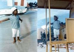 child-barack-on-beach