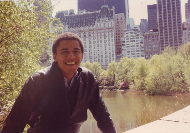Barack Obama in New York City.