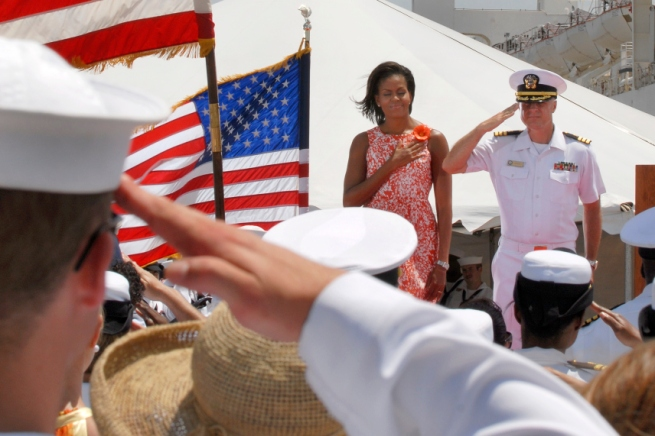 First Lady Visit, Michelle Obama, Eisenhower, Comfort, Homecoming