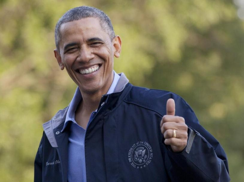 POTUS Thumbs Up