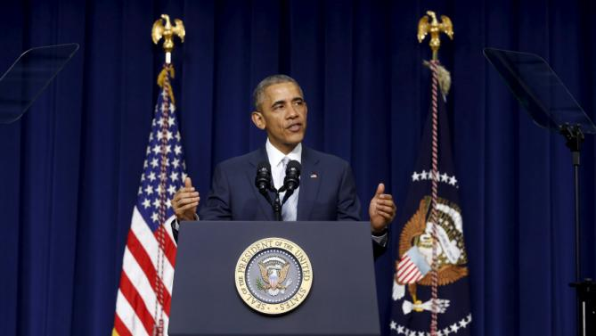 Obama delivers remarks on the fifth anniversary of the Affordable Care Act on the White House campus in Washington