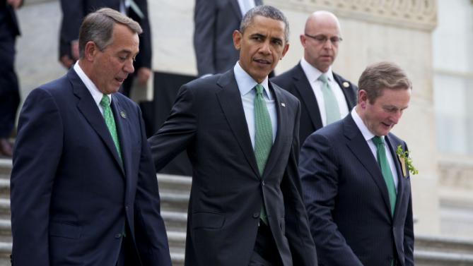 Barack Obama, Enda Kenny, John Boehner