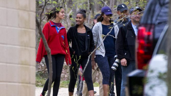 Barack Obama, Malia Obama, Sasha Obama, Michelle Obama