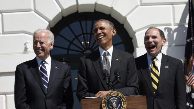 Barack Obama, Bob MCDonald, Joe Biden