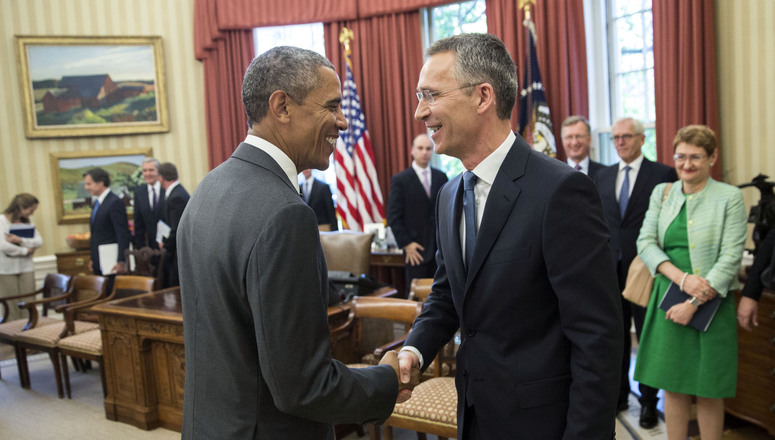 Bilateral meeting between NATO Secretary General Jens Stoltenberg and the President of United States of America.
