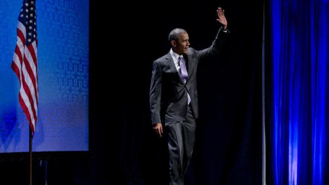 President Barack Obama waves as he arrive to speak at the Catholic Hospital Association Conference about healthcare reform, Tuesday, June 9, 2015, at the Washington Marriott Wardman Park in Washington. (AP Photo/Carolyn Kaster)