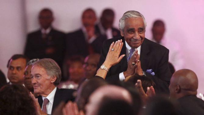 U.S. Representative Charlie Rangel (D-NY) attends a state dinner in U.S. President Barack Obama's honor at the State House in Nairobi July 25, 2015. Obama told African entrepreneurs in Kenya on Saturday they could help counter violent ideologies and drive growth in Africa, and said governments had to assist by ensuring the rule of law was upheld and by tackling corruption. REUTERS/Jonathan Ernst
