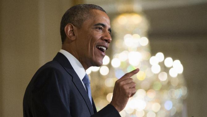 President Barack Obama speaks at the at 2015 White House Conference on Aging, Monday, July 13, 2015, in the East Room of the White House in Washington. The president said a secure retirement is a critical component of what it means to be middle class in America. (AP Photo/Evan Vucci)