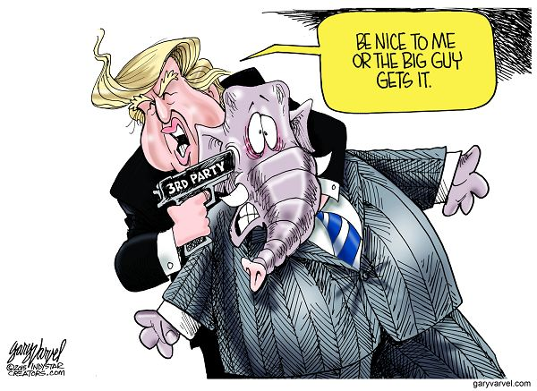 Donald Trump says his treatment by the party will dictate whether he runs as a third party candidate. ÒIÕll have to see how IÕm being treated by the Republicans,Ó Mr. Trump said. ÒAbsolutely, if theyÕre not fair, that would be a factor.Ó