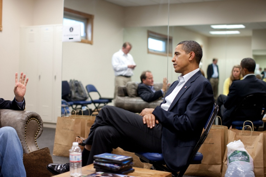President Barack Obama meets with Montana Governor Brian Schweitzer following a town hall meeting on health care insurance reform in Belgrade, Montana, August 14, 2009.. (Official White House photo by Pete Souza) This official White House photograph is being made available only for publication by news organizations and/or for personal use printing by the subject(s) of the photograph. The photograph may not be manipulated in any way and may not be used in commercial or political materials, advertisements, emails, products, promotions that in any way suggests approval or endorsement of the President, the First Family, or the White House.