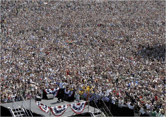 75,000 show up at Obama campaign in Oregon May 18, 2008