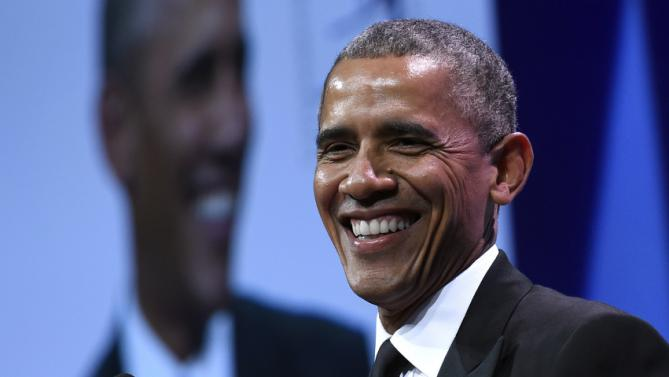 President Barack Obama speaks at the Congressional Hispanic Caucus Institute's (CHCI) 38th Anniversary awards gala in Washington, Thursday, Oct. 8, 2015. The gala is the signature event in its Hispanic Heritage Month list of events that include the Public Policy Conference. (AP Photo/Susan Walsh)