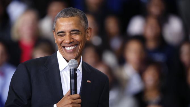 President Barack Obama speaks during a town hall style event McKinley Senior High School in Baton Rouge, La., Thursday, Jan. 14, 2016. (AP Photo/Gerald Herbert)