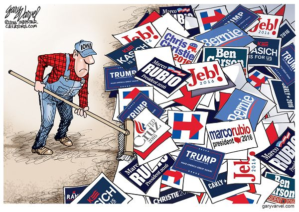 The morning after the Iowa Caucus, the candidates will move on to New Hampshire and Iowans will begin cleaning up.