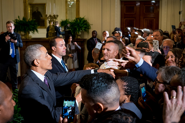 President Barack Obama works the rope line after delivering remarks at a reception in the East Room of the White House in recognition of LGBT Pride Month on June 9, 2016 in Washington, D.C. Photo by Pete Marovich/UPI/POOL