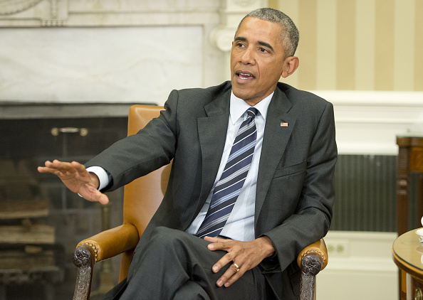 U.S. President Barack Obama speaks to members of the media after receiving an update on the investigation into the attack in Orlando, Florida, in the Oval Office of the White House in Washington, D.C., U.S., on Monday, June 13, 2016. Obama said the gunman who killed 49 people in an Orlando nightclub was inspired by extremist propaganda but there's no evidence so far that he was directed by anyone overseas or was part of any larger group. Photographer: Ron Sachs/Pool via Bloomberg