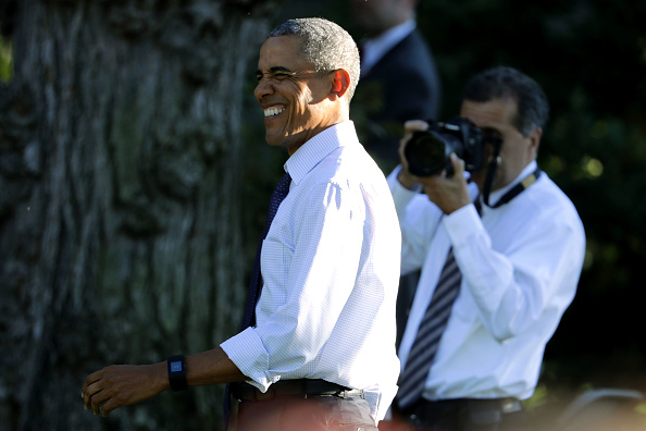 WASHINGTON, DC - JUNE 14: U.S. President Barack Obama arrives at the annual picnic for Members of Congress at the White House June 14, 2016 in Washington, DC. Earlier in the day, Obama talked about the investigation into the mass shooting in Orlando and spoke at the first White House United State of Women Summit. (Photo by Chip Somodevilla/Getty Images)