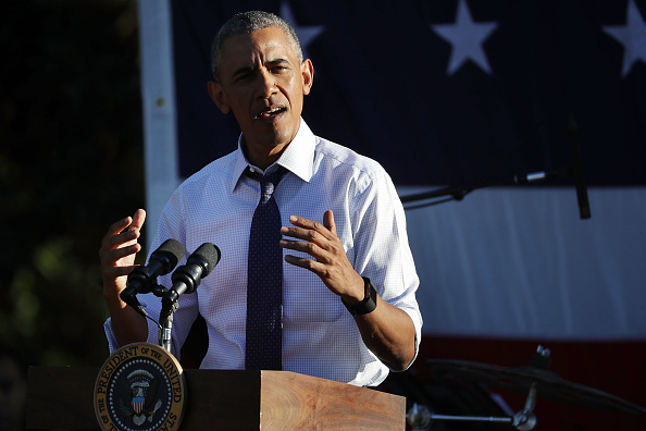 WASHINGTON, DC - JUNE 14: U.S. President Barack Obama delivers remarks during the annual picnic for Members of Congress at the White House June 14, 2016 in Washington, DC. Earlier in the day, Obama talked about the investigation into the mass shooting in Orlando and spoke at the first White House United State of Women Summit. (Photo by Chip Somodevilla/Getty Images)