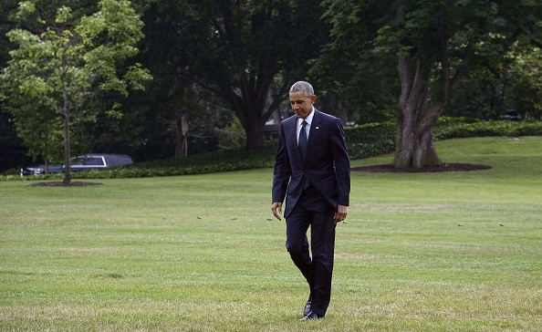 WASHINGTON, DC - JUNE 16: U.S. President Barack Obama walks back to the residence of the White House June 16, 2016 in Washington, DC. The president traveled to Orlando, Florida to pay respects to the victims of Sunday's nightclub mass shooting and to stand in solidarity with the community. (Photo by Olivier Douliery-Pool/Getty Images)