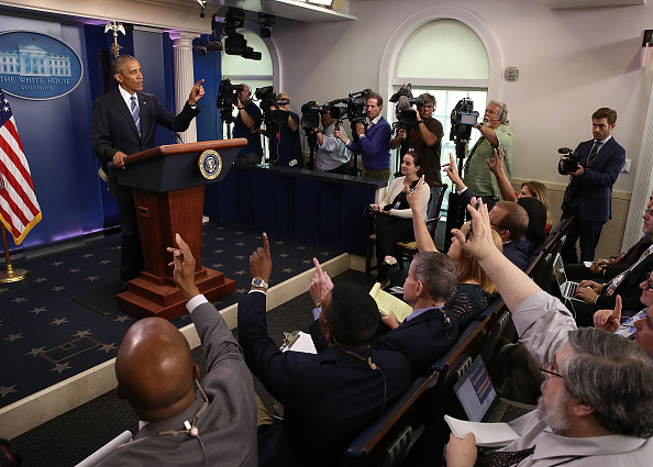 WASHINGTON, DC - JUNE 23: US President Barack Obama talks about today's Supreme Court ruling, at the White House June 23, 2016 in Washington, DC. The high court today announced that it was evenly divided in a case concerning President Barack Obama's controversial executive actions on immigration. (Photo by Mark Wilson/Getty Images)