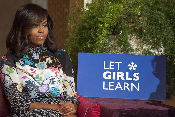 MARRAKECH, MOROCCO - JUNE 28: The US President Barrack Obama' s wife Michelle Obama attends a program held for girls whose education is interrupted in Marrakech, Morocco on June 28, 2016. (Photo by Jalal Morchidi/Anadolu Agency/Getty Images)